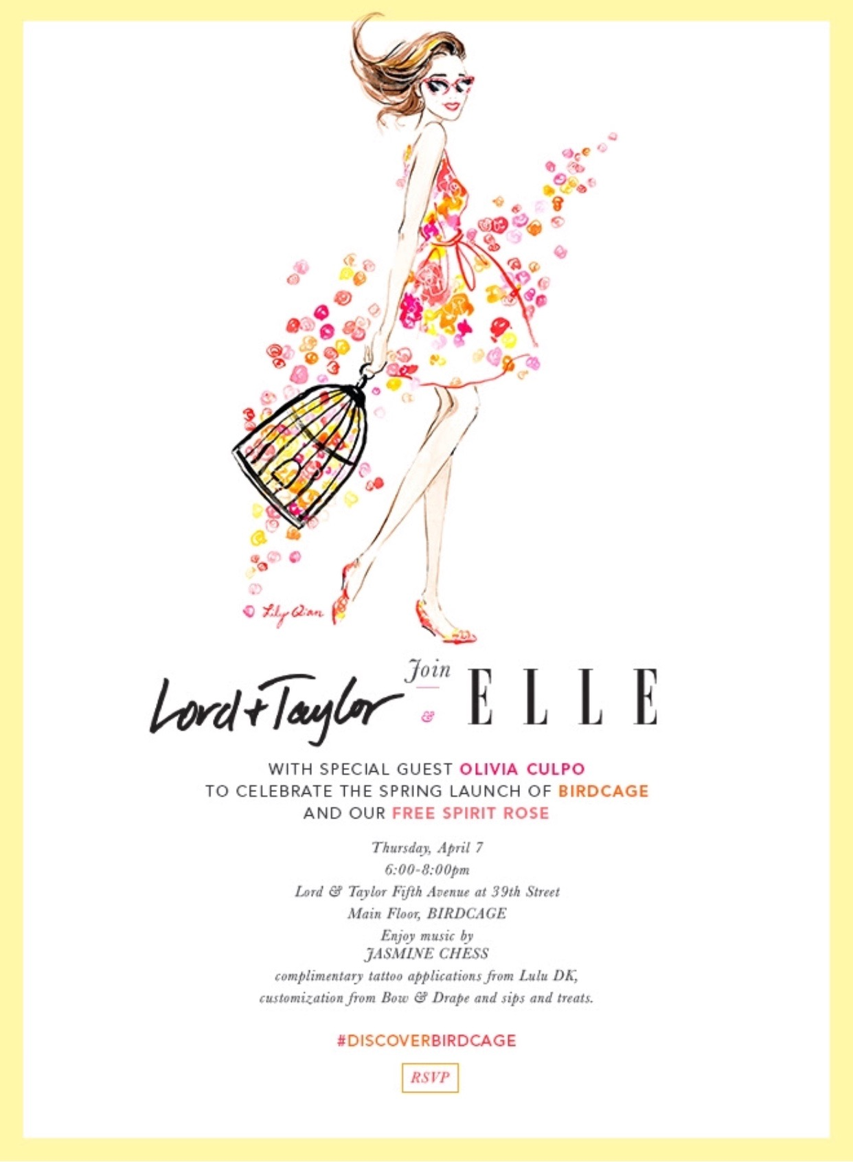 BIRDCAGE LAUNCH PARTY X ELLE MAGAZINE