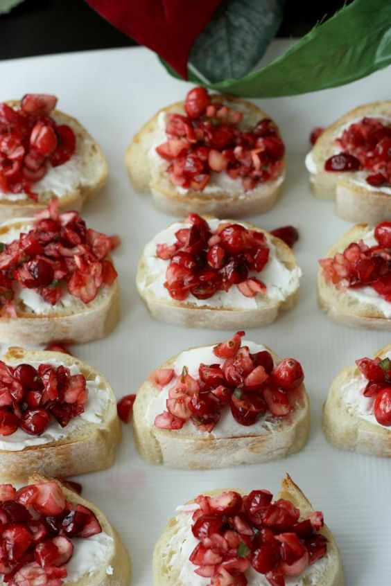 cranberry-and-pomegranate-crostinis
