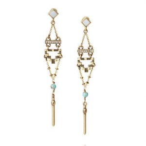 Stepwells Post Drop Earrings