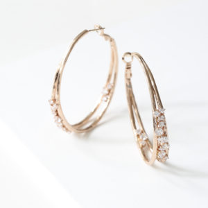 Anniversary Rose Gold Hoop Earrings