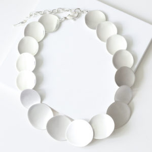 Anniversary Silver Statement Necklace
