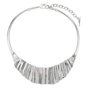 Sculpted Metal Statement Necklace